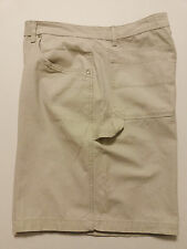 Faded Glory Mens Shorts Size 42 Ivory Flat Front Cotton Carpenter Pants 9 Inseam