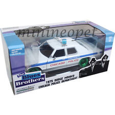 GREENLIGHT THE BLUES BROTHERS 75 DODGE MONACO 1/24 CHICAGO POLICE GREEN MACHINE