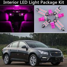 7PCS Pink LED Car Interior Lights Package kit Fit 2011-2015 Chevrolet Cruze J1