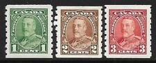 Canada 1935 Coil Stamps SG 352-354 (Mint)