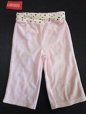 NWT Gymboree Sweeter Than Chocolate 12-18 Month Pink Polka Dot Velour Yoga Pants