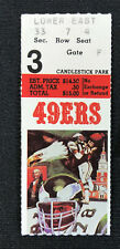 San Francisco 49ers Ticket Stub Sept. 3, 1983 Roger Craig Debut Candlestick