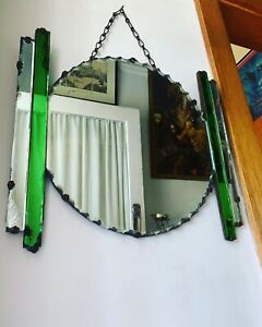 Art Deco 1930's Green Mirror