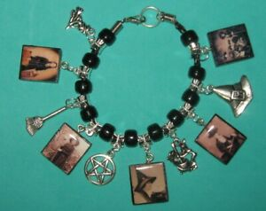 Vintage Witches Beaded Charm Bracelet