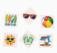 TROPICAL TATTOOS Surfing Surf Board Flip Flops Beach Party 72 assorted