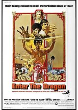 Enter The Dragon - Bruce Lee - A4 Laminated Mini Movie Poster