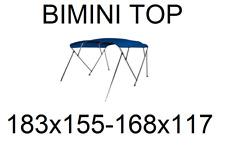 3 BOW BIMINI TOP Verdeck ALU Sonnenverdeck Boot Sonnendach sonnen+ schutz segel