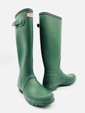 Hunter Original Tall Matte Green Rain Boots Women's Size 9 - Blemish