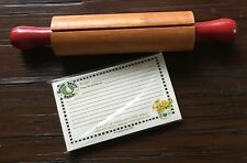 Cobble Creek Gooseberry Patch Recipe Cards And Decorative Rolling Pin Holder