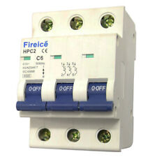 6AMP - Fireice - MCB 3 Pole 6kA - Circuit Breaker for Switchboard ! Three Phase