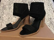 NEW Kelsi Dagger Brooklyn Women's 8 Merrikoo Aztec Black Suede Heels Open Toe