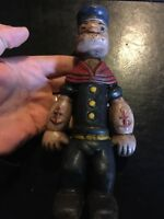 Cast Iron Popeye Piggy Bank Vintage Patina Style Advertisement 3+Lbs Collector