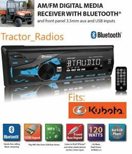Kubota Direct Plug & Play Tractor Radio AM FM Bluetooth Remote RTV LX B2650 RTX