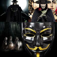 V For Vendetta Guy Fawkes Face Mask Anonymous Halloween Cosplay Vivid Costumes