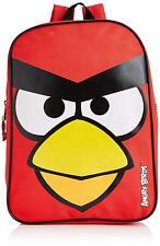 Oficial Angry Birds Infantil Liso Valor Mochila Mochila Roja Regalo de Escuela