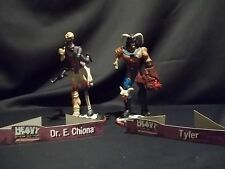 LOT OF 2 FAKK2 HEAVY METAL GAME FIGURES TYLER  AND DR. E CHIONA LOOSE N2 TOYS