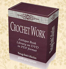 120 Rare Vintage Crochet Books on DVD - Sewing Patterns Needlework Designs H5