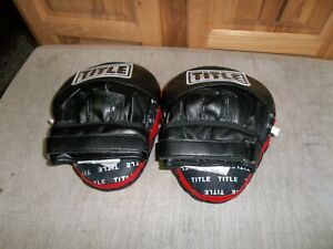 TITLE BOXING INCREDI-BALL LEATHER TRAINING 2.0 PUNCH MITS ~ NEVER USED