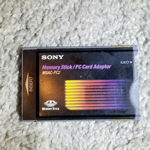 Sony MSAC-PC2 Memory Card Adaptor for PCMCIA Type II Ports