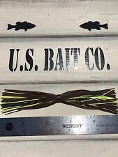 Bass Jig Skirts Living Rubber Lot Of 10 Color Brown Black Chartreuse