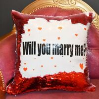 Will You Marry Me Sequin Cushion Magic Reveal Mermaid | Christmas Gift