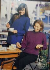 Patons knitting Pattern leaflet no.520 ladies jumpers Bluebell 5ply sizes 8-18