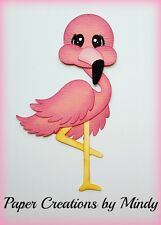 Craftecafe Mindy Summer Flamingo Zoo  premade paper piecing  scrapbook Title