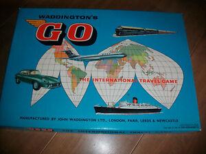 Vintage Waddingtons Go The International Travel Board Game 1961 - Complete