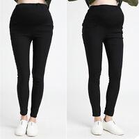 Skinny Pants Trousers Overbumped Pants Leggings Pregnancy Maternity Cute M/L/XL