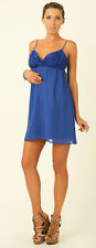 Womens Supre Size M/12 Strappy Loose Fit Blue Mini Dress with bust BNWT