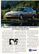 1993 Saab 9000 Cse - Lake - Classic Vintage Advertisement Ad D86