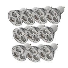 Lot10 GU10 3W 3000~3500K 3*1W 85~265V Warm White LED Light Bulb Spotlight Lamp