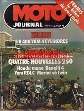 MOTO JOURNAL  466 YAMAHA 500 XT 250 RDLC XJ HONDA XLS SUZUKI DR 400 AJS 1980