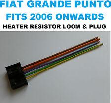 FIAT GRANDE PUNTO HEATER FAN BLOWER MOTOR RESISTOR WIRING HARNESS LOOM & PLUG