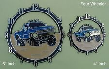 "Plastic / Epoxy - 4"" Inch Four Wheel Truck - Clock Dials"