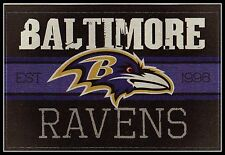BALTIMORE RAVENS FOOTBALL NFL LICENSED VINTAGE TEAM LOGO INDOOR DECAL STICKER