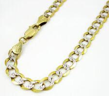4.20 Grams 5mm Mens 10k Yellow Solid Gold Diamond Cut Cuban Curb Miami Bracelet