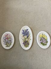 More details for 3 x watersmeet studios ken morris countryside in relief raised wall plaques