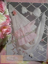 Knitting Pattern Baby's Lacy Shawl, Jacket, Bonnet, Bootees & Mitts!! JUST 1.99!