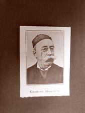 Stampa del 1923 Giuseppe Marcotti Collaboratore dell'Illustrazione Italiana