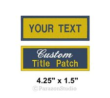 Custom Embroidered Name Tag Sew on Patch Motorcycle Biker Patches 3.5 X 1 (a)