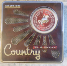 Country Radio - Johnny Cash, Dolly Parton, Hank Williams.. Metal Box 3 CD SEALED