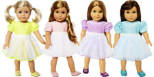 18 Inch Doll Clothes 4 Dresses with Shoes Value Pack for American Girl Dolls