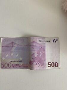 Echter 500Euro Geldschein Sammler S-Serie 2002, S00023307892