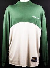 Easton Men's Baseball Long-sleeve Shirt Mock Green Tan Sports Size Medium New