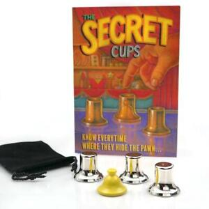 Secret Cups -  Pawn is Hidden Underneath One of Three Cups - You Find It Easily!