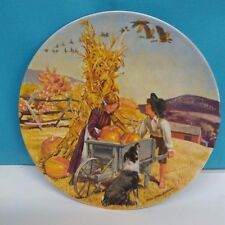 Decorative Plate Thanksgiving Collectors Plate Don Spaulding 1979 Knowles