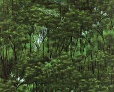 SALE--2+YD 'TREELINE DRIVE' GREEN FOREST FABRIC - HOFFMAN