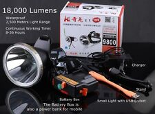 18000LM LED Light Headlamp 100W Fishing Light Hunting Camping Headlight 18650 Ba