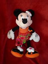 Doudou Disney Nicotoy Peluche Minnie Robe Hawaienne et Tong Orange Rose